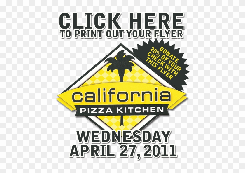 California Pizza Kitchen Flyer.