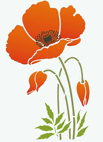 California Poppies Clip Art.