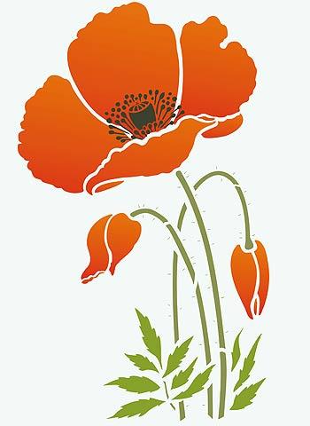 California Poppies Clip Art.