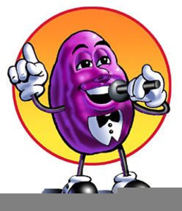 California Raisin Clipart.