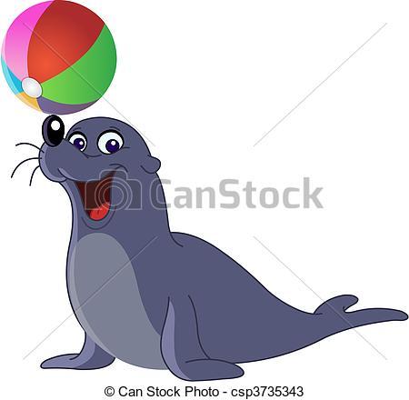 Sea lion Clip Art Vector Graphics. 877 Sea lion EPS clipart vector.