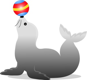 Free Trained Seal Clip Art Image.