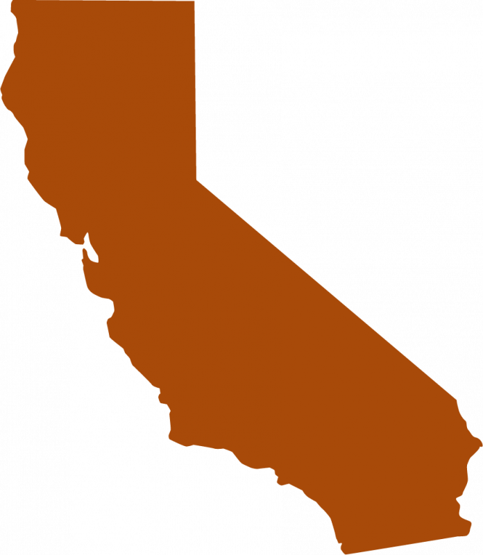 Custom California state shaped stickers and decals.