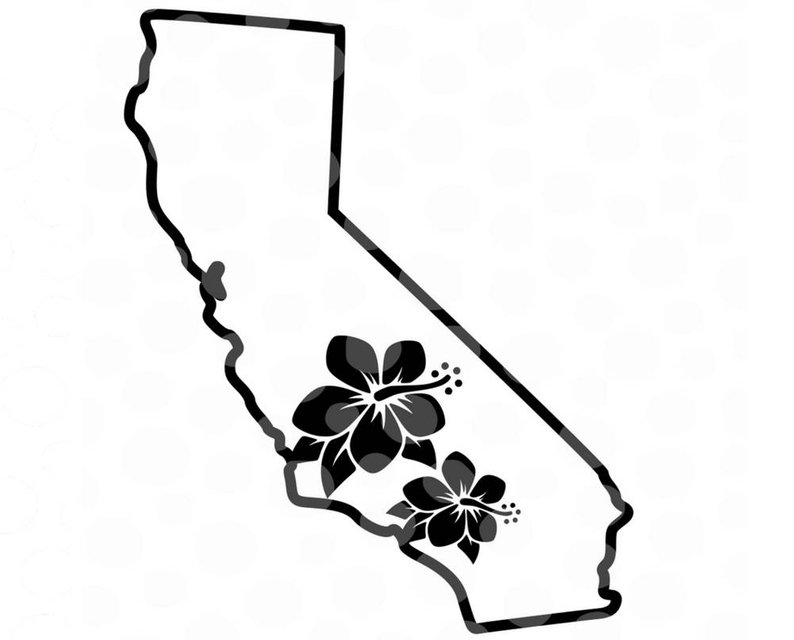Collection of California state clipart.