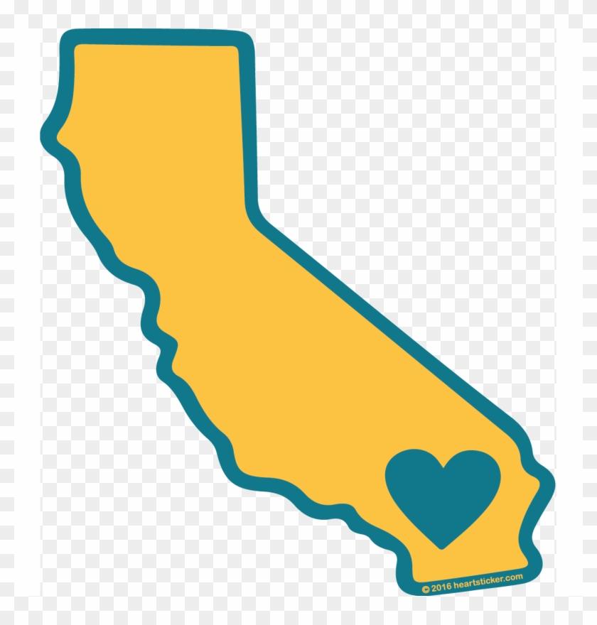 California Flag Clipart Heart.
