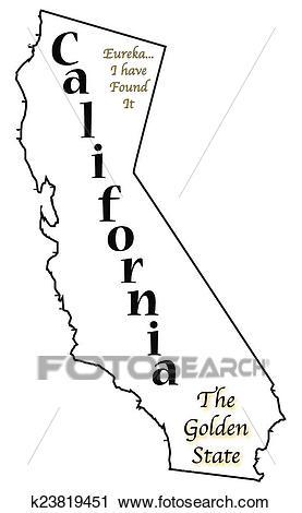 California State Motto and Slogan Clipart.