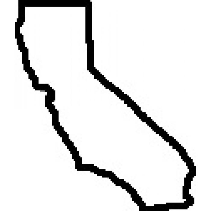 Solid Map Of California Clip Art.