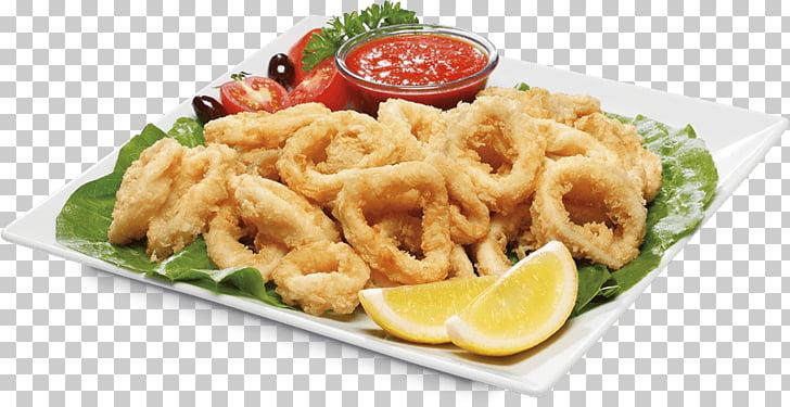 Karaage Tapas Croquette Pakora Patatas bravas, Calamari PNG.