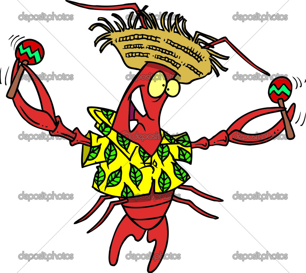 Royalty Free Clipart Image of a Calypso Lobster — Stock Vector.