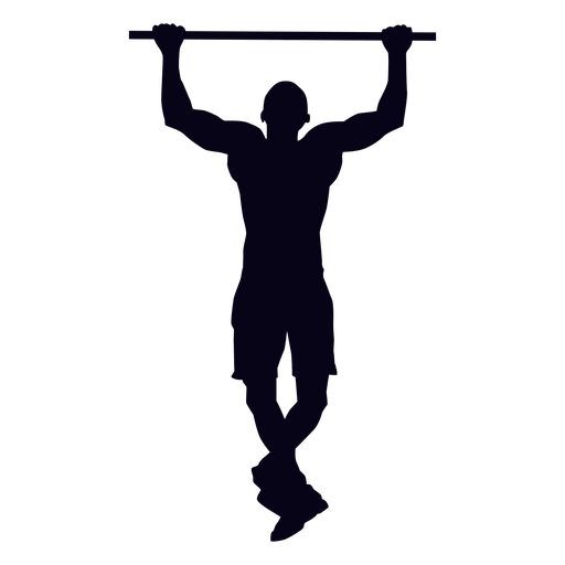 Silhouette CrossFit Exercise Calisthenics T.