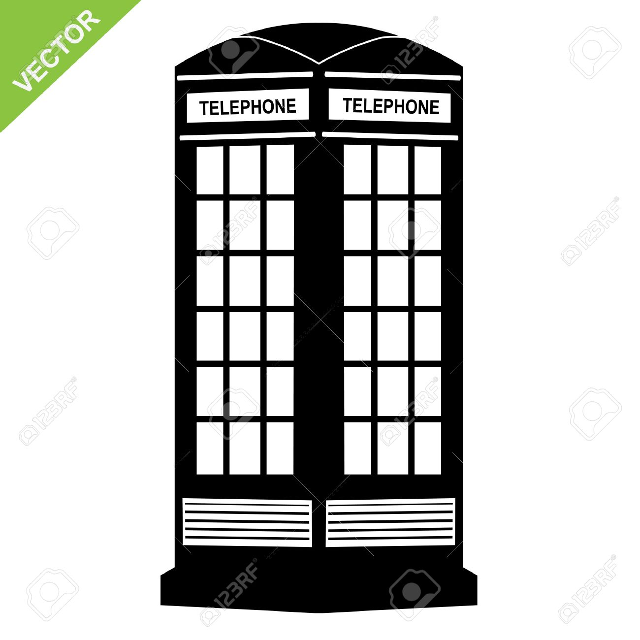 The Silhouette Call Box Royalty Free Cliparts, Vectors, And Stock.