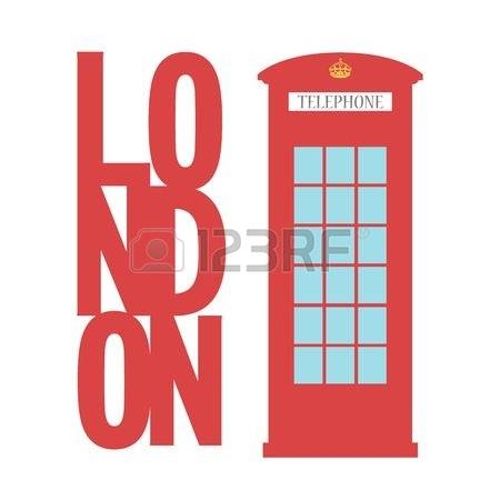 414 English Phone Booth Stock Vector Illustration And Royalty Free.