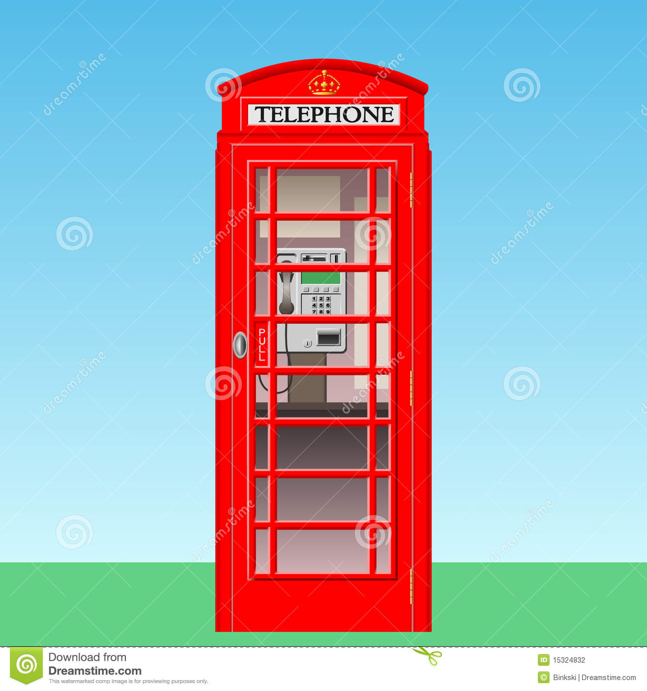 British Red Phone Booth Stock Illustrations.