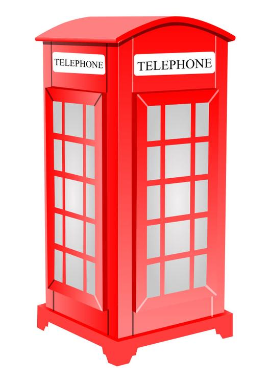 Image English telephone booth.