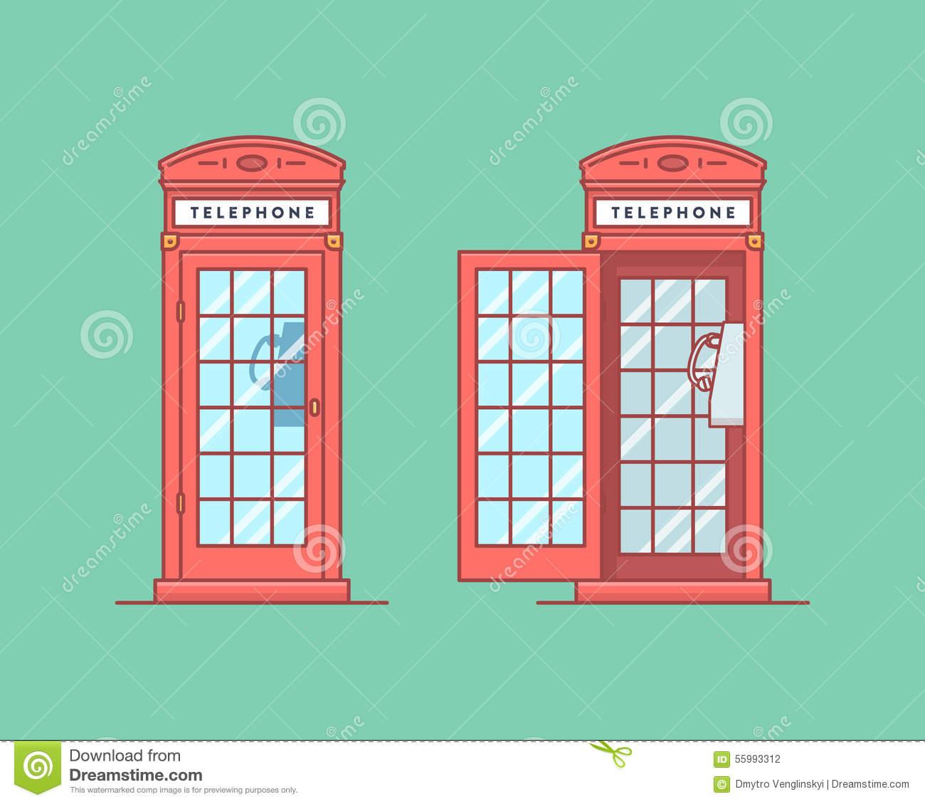 Telephon Stock Illustrations.