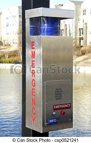 Stock Photography of Emergency Call Box.