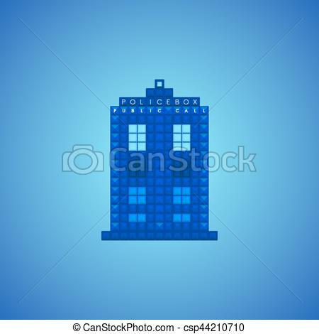 Vector Clip Art of Old police box.