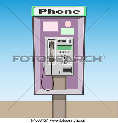 Clipart of Police public call box k19821482.