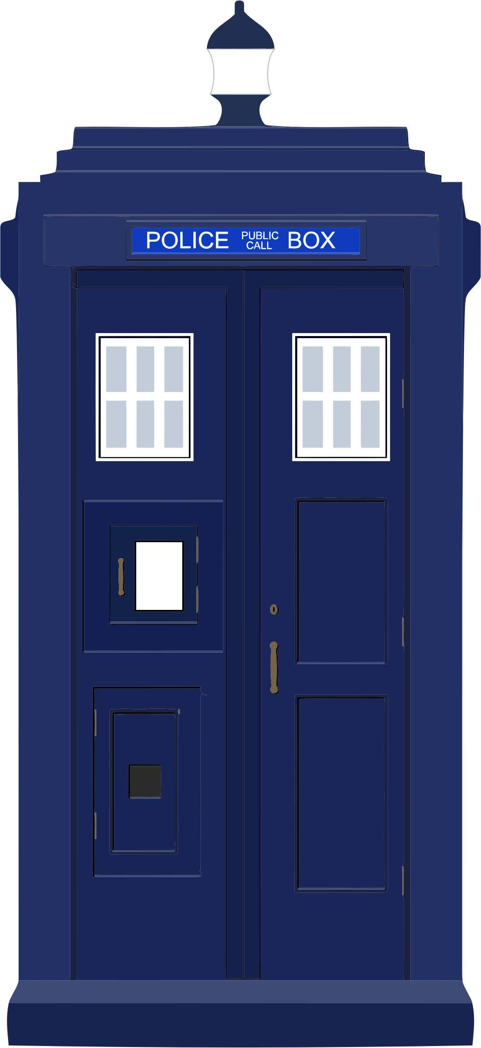 Police call box clipart.