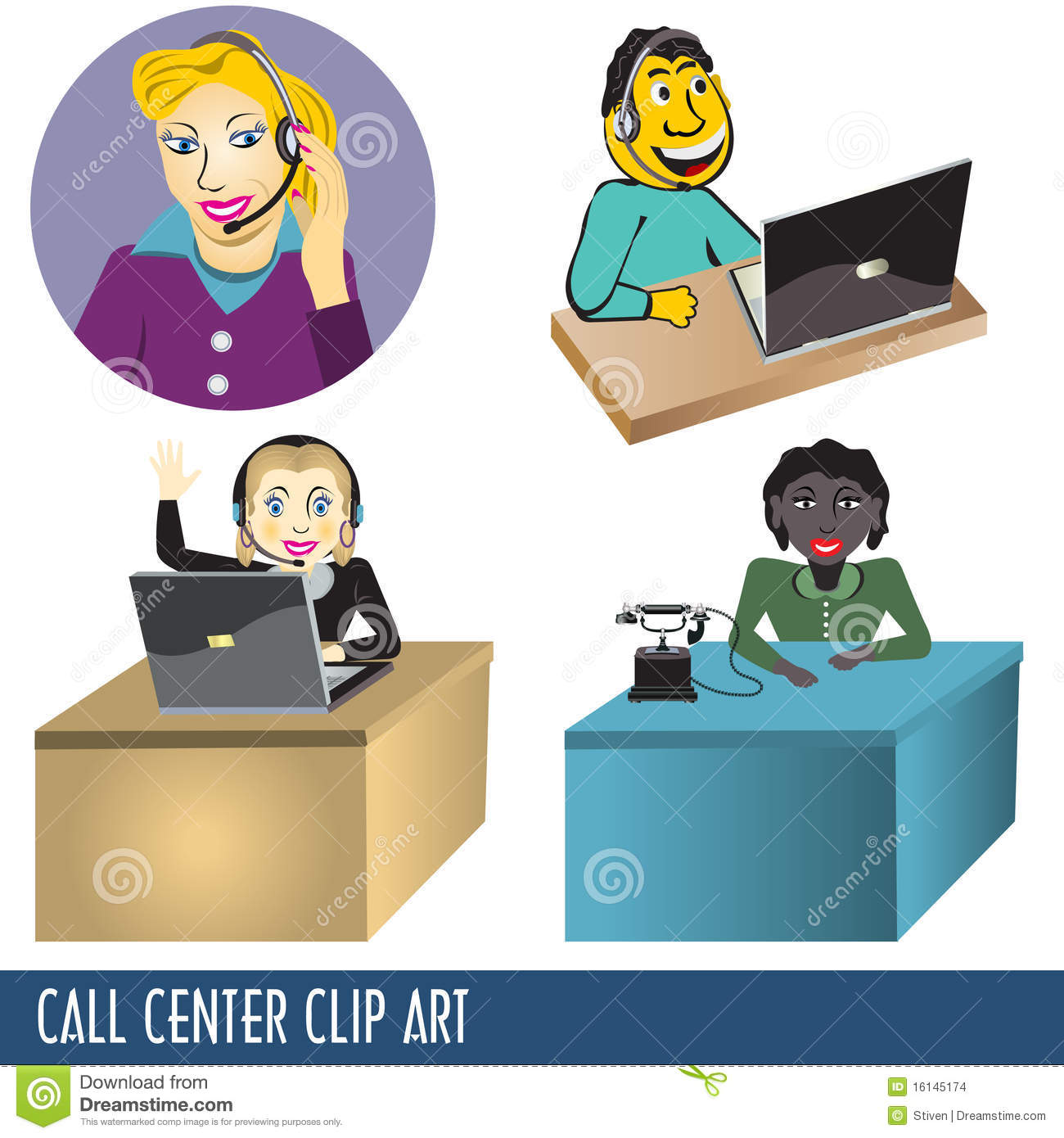 Call Center Clipart.