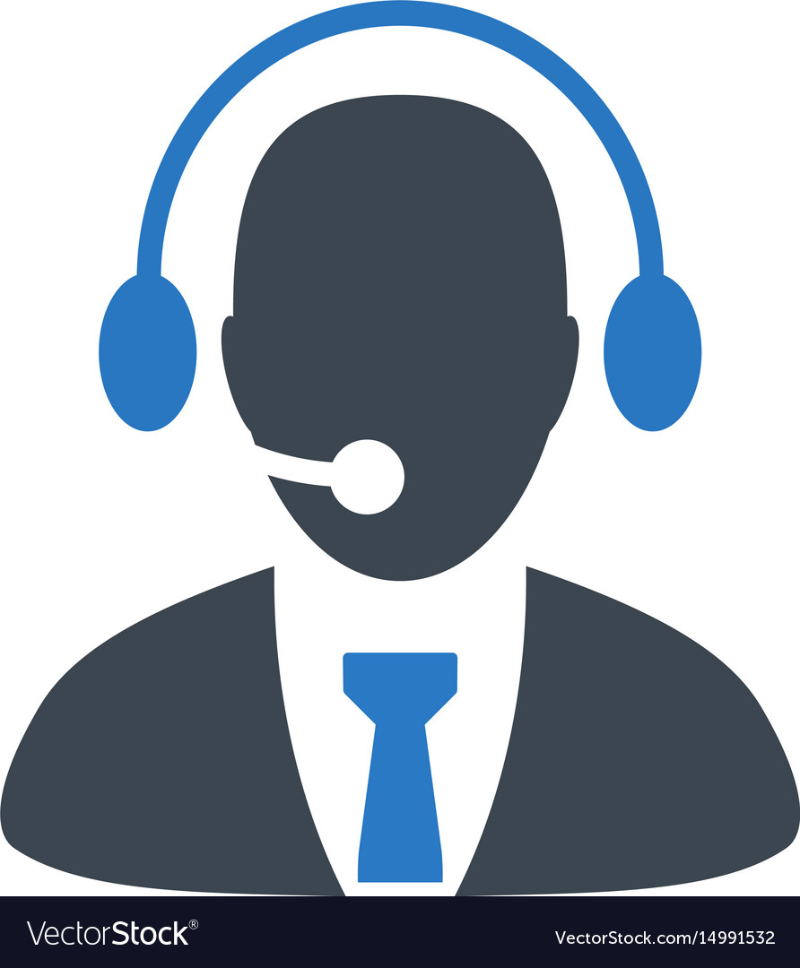 Call center director flat icon.