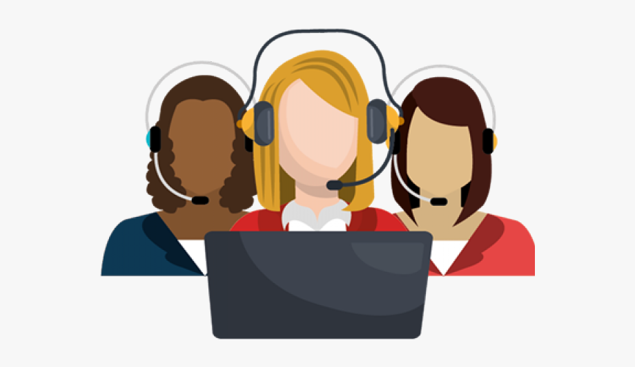 Professional Clipart Call Center Agent.