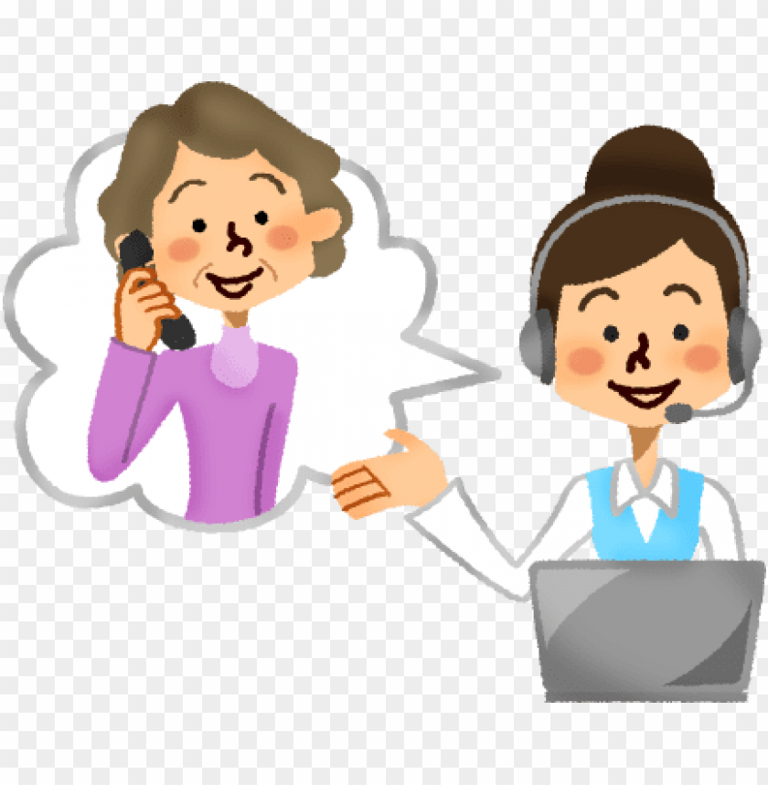 svg library library call center operator with senior.