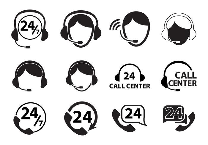 Call Center Icon Set.