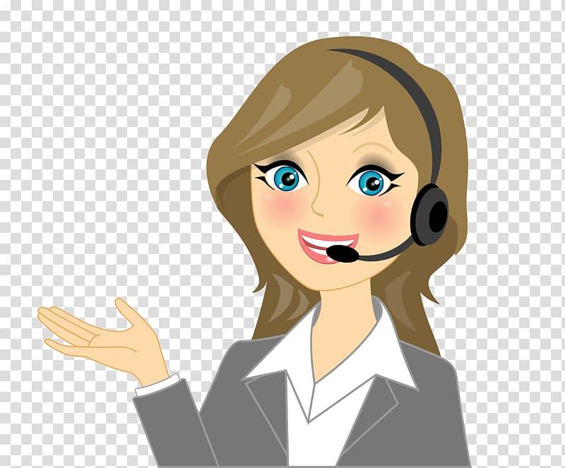 Woman wearing headset , Call Centre Cartoon , calling.