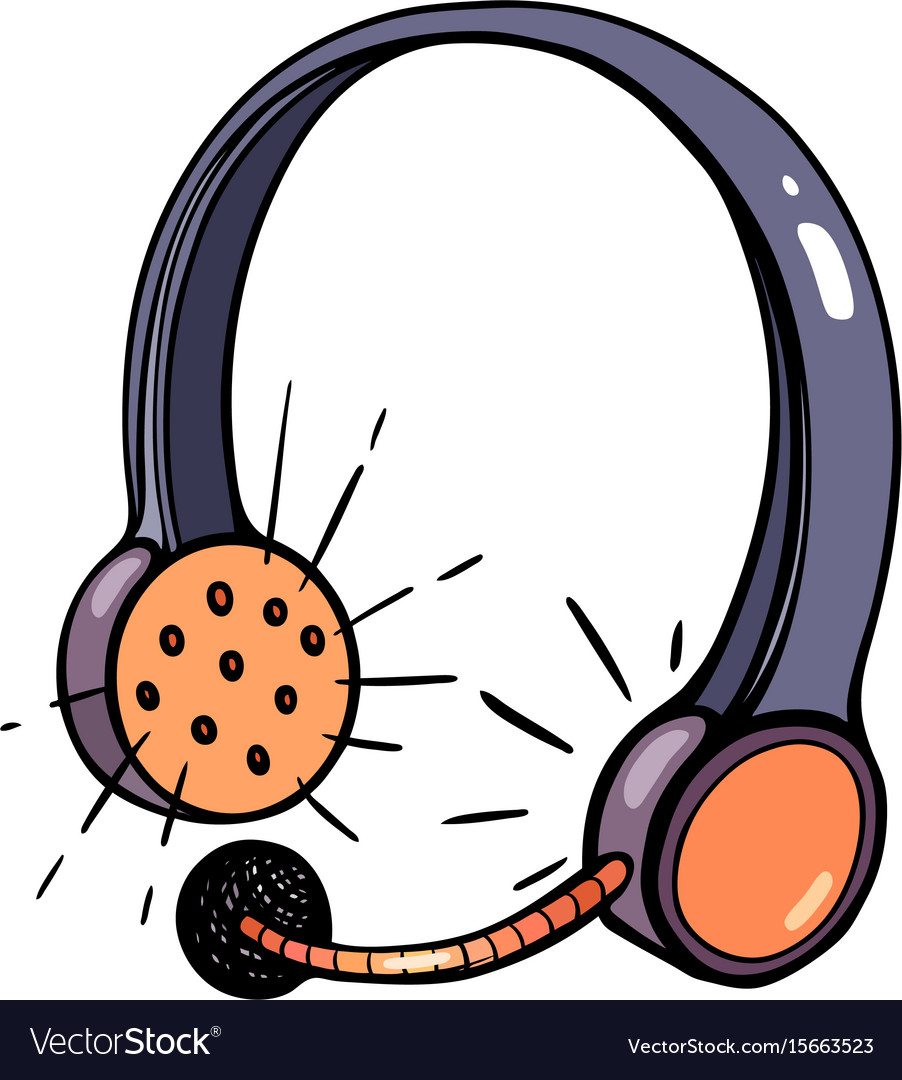 Cartoon image of call center headset.