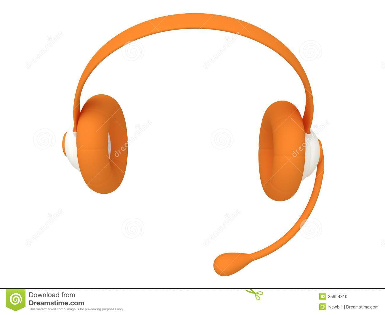 Call Center Headset Clipart.