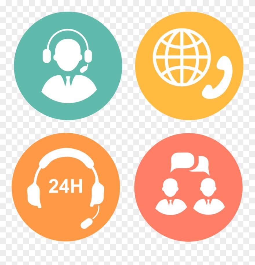 Customer Service Call Center Icon.
