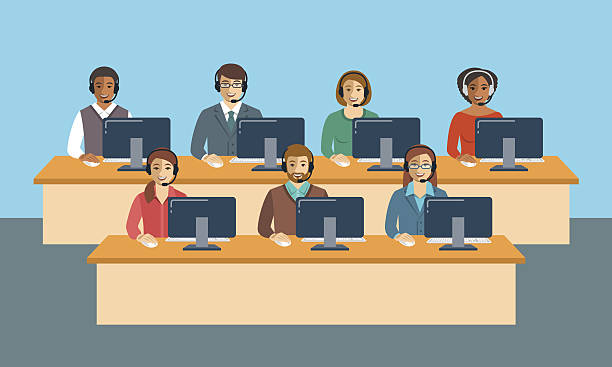 Best Call Center Illustrations, Royalty.