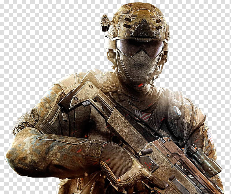 Call of Duty Black Ops II Render , soldier wearing mask and.