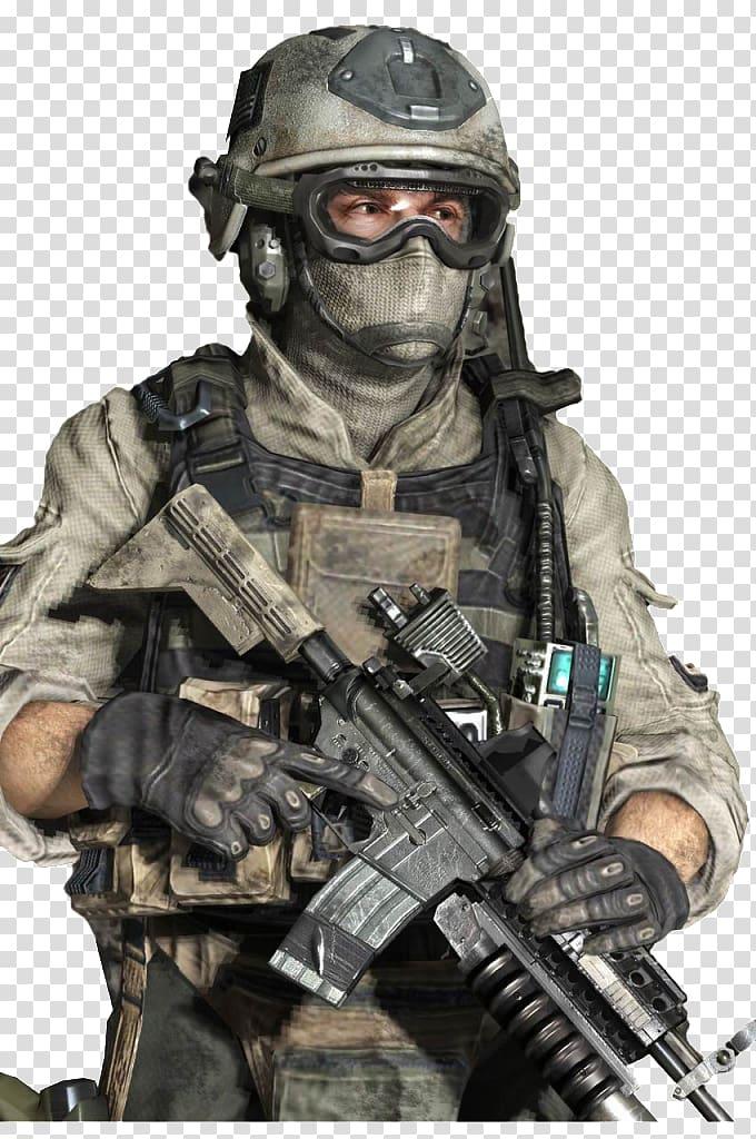 Person holding rifle illustration, Call of Duty: Modern Warfare 2.