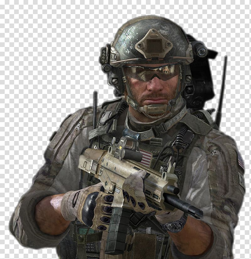 Person holding rifle illustration, Call of Duty: Modern Warfare 2.
