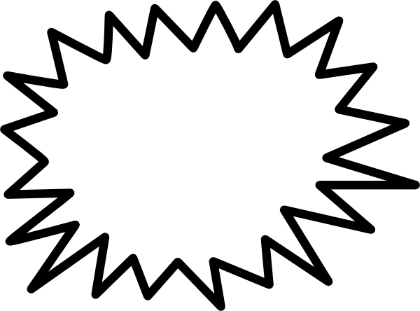 Sunburst Call Out Clipart.