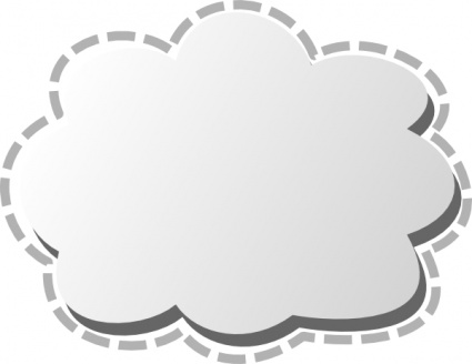 Cloud Call Out Clipart.