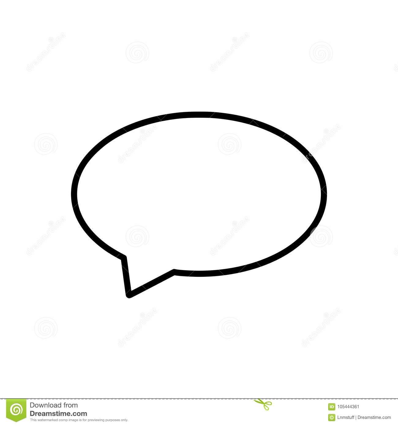Dialog callout shape.