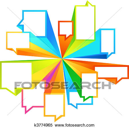 Colorful callout shapes Clipart.