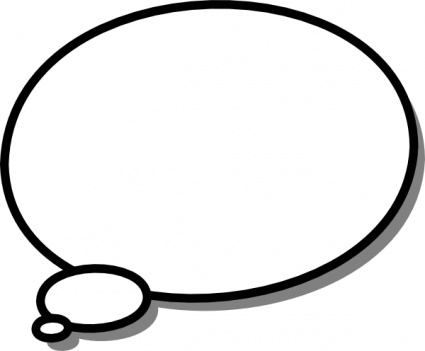 Thought Callout clip art free vector.