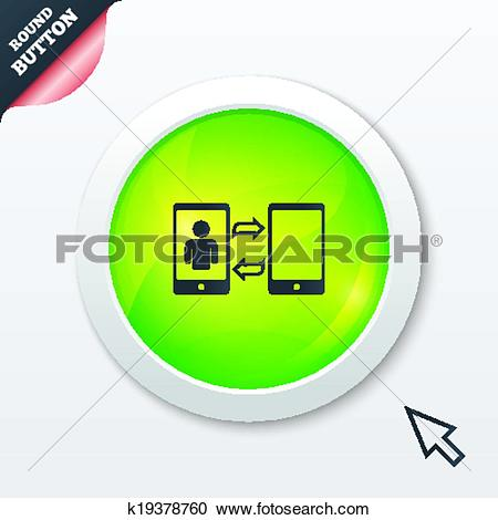 Clipart of Change Video call to simple call sign icon. k19378760.