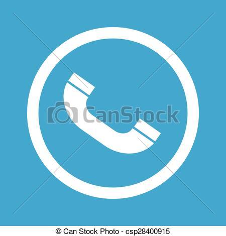 Vector Clip Art of Call sign icon.