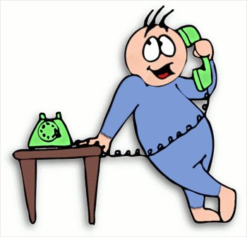 Make a phone call clipart.