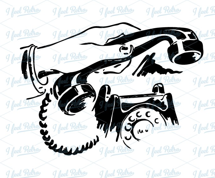 Retro Clipart: Phone call.