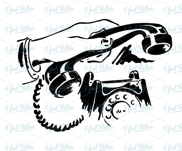 Retro Clipart: Phone call.