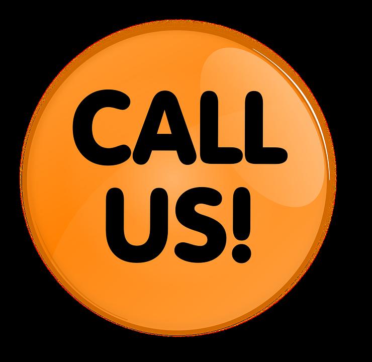 Button Round Contact Call.