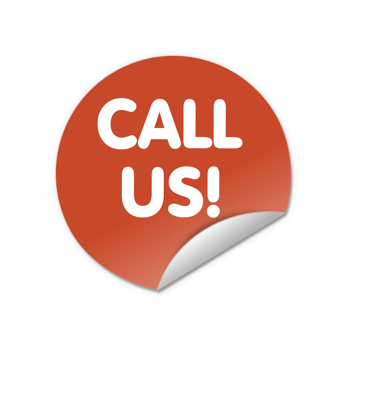 Button Round Contact Call Us PNG.