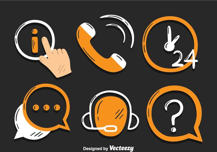 Call Centre Icons Vector.