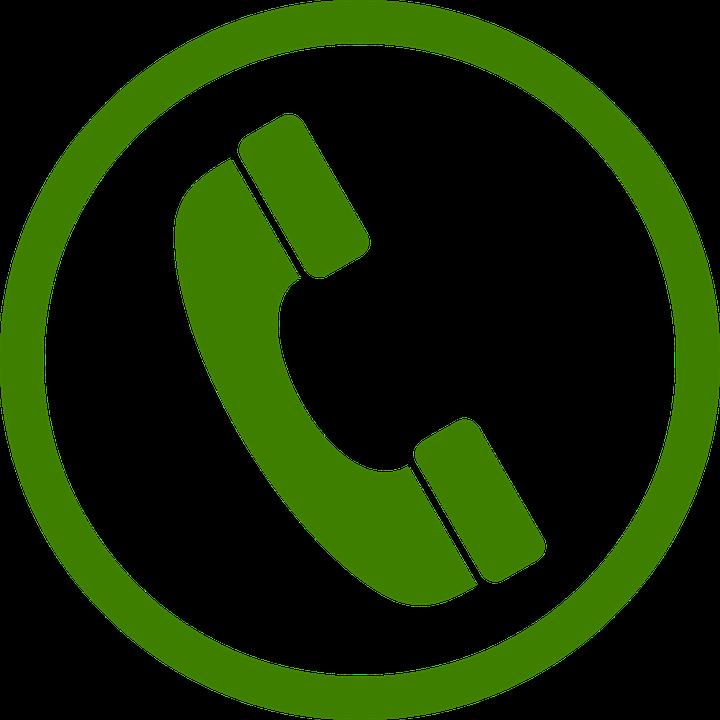 Phone Green Circle.